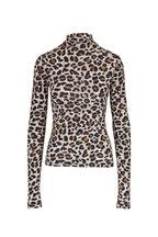 Andamane - Beth Leopard Mockneck Top