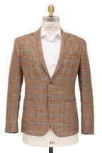 Maurizio Baldassari - Mustard Wool & Linen Windowpane Sportcoat