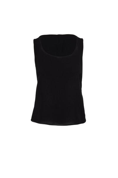 Akris - Black Double Layer Side-Zip Tank