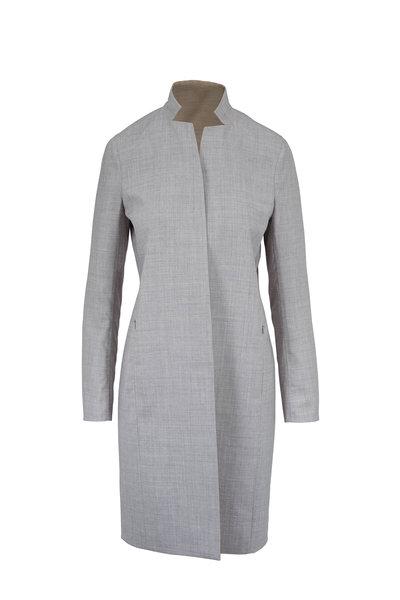 Akris - Elyas Silver & Birch Reversible Coat