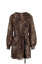 Nili Lotan - Rebeca Brown Silk Leopard Print Dress