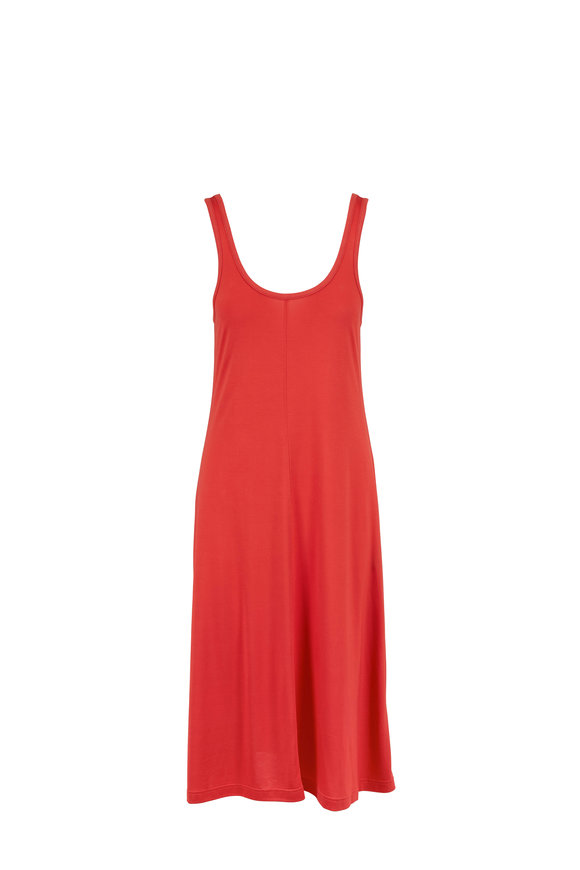Rag & Bone Allegra Fire Red Scoop-Neck Tank Dress