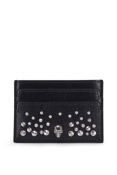 Alexander McQueen - Black Leather Studded Card Case