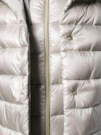 Herno - Silver Velvet Trim Hooded Puffer Jacket
