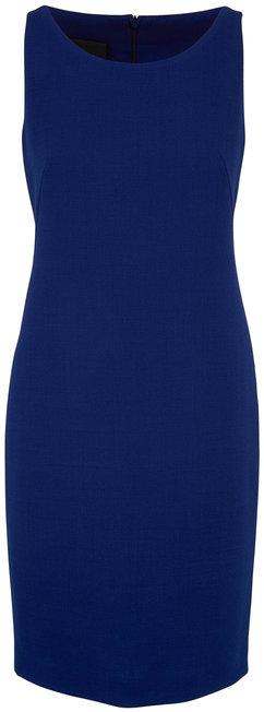 Akris Blue Double-Faced Wool Sleeveless Sheath Dress