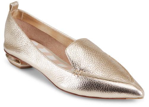 Nicholas Kirkwood Beya Platinum Gold Loafer