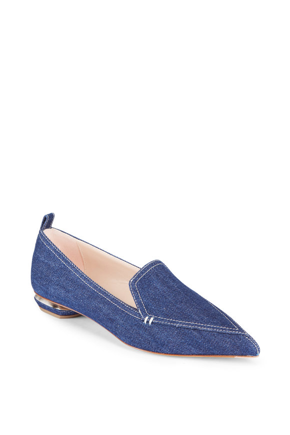 Nicholas Kirkwood Beya Dark Denim Loafer Flat