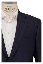 Brioni - Navy Blue Tonal Plaid Wool Suit