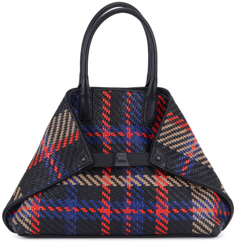 Akris AI Mutlicolor Woven Leather Small Tote