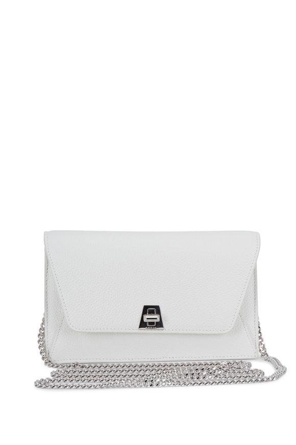 Akris Anouk White Grained Leather Mini Envelope Bag
