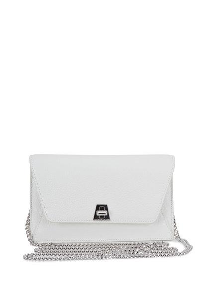 Akris - Anouk White Grained Leather Mini Envelope Bag