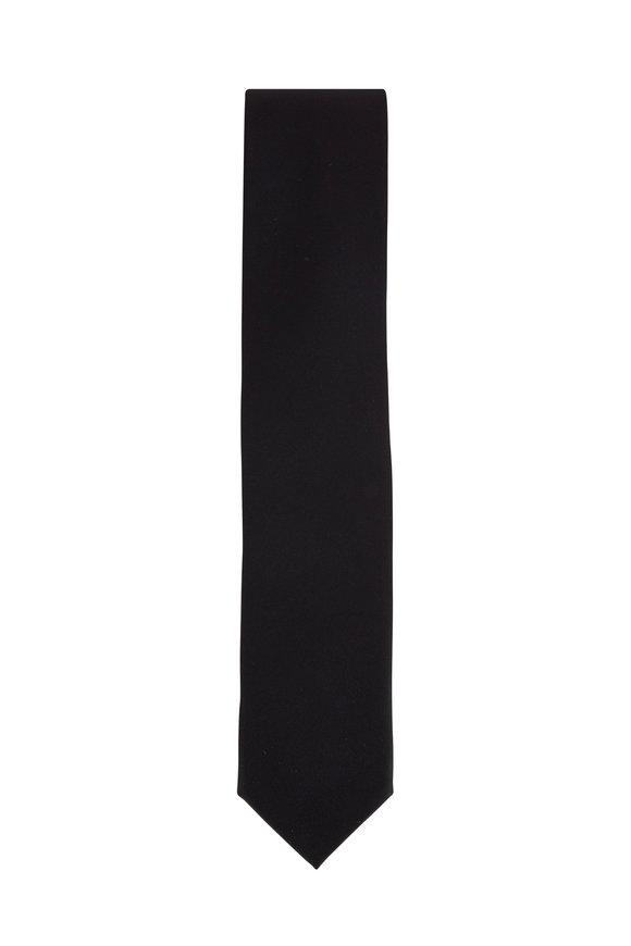 Dolce Punta Black Grosgrain Formal Necktie