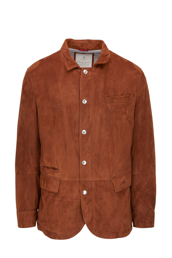 Brunello Cucinelli Brown Suede Jacket