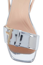 Fendi - FFreedom Silver Mirror Laminate Sandals, 65mm