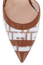 Fendi - Colibri Tan Logo PVC & Elastic Pump, 85mm