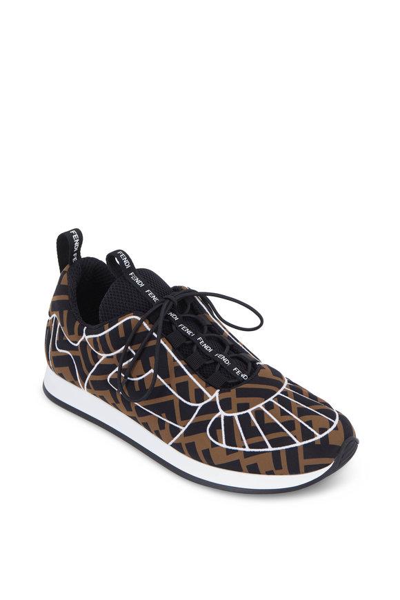 Fendi FFreedom Brown & Black Slip-On Sneaker