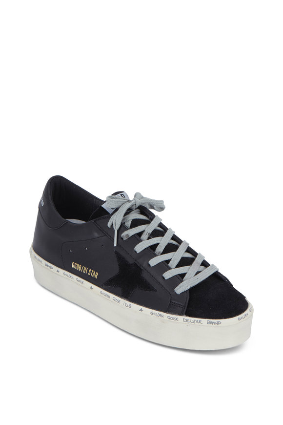 Golden Goose Hi Star Black Leather Low Top Sneaker