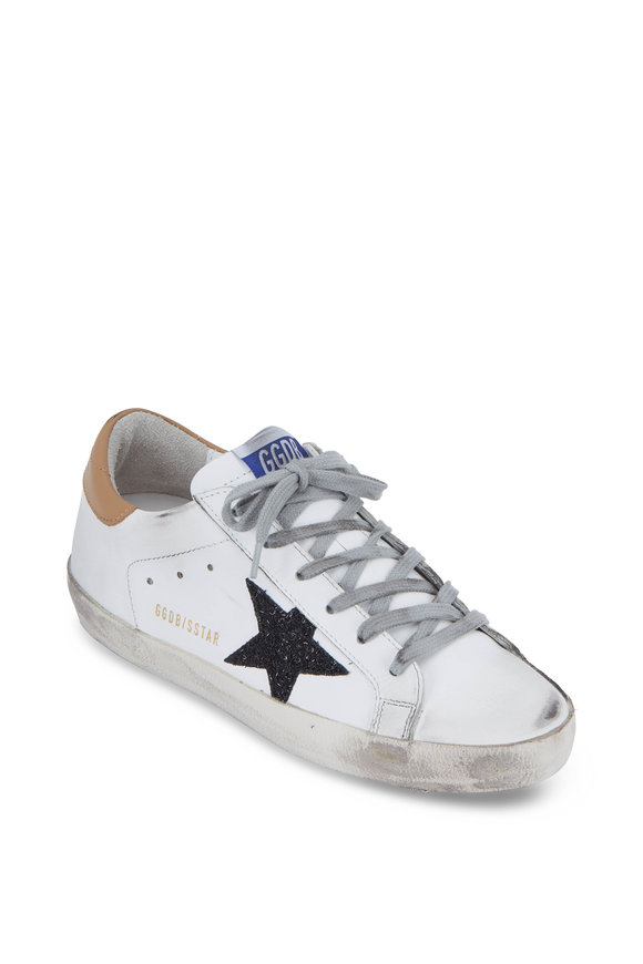 Golden Goose Superstar White & Black Glitter Star Sneaker