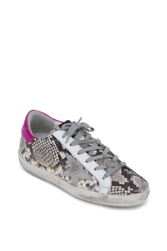 Golden Goose Superstar Natural Snakeskin Print Sneaker