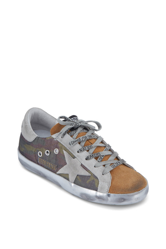 Golden Goose Superstar Camo & Coffee Suede Sneaker