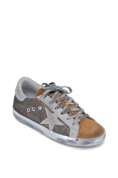 Golden Goose - Superstar Camo & Coffee Suede Sneaker