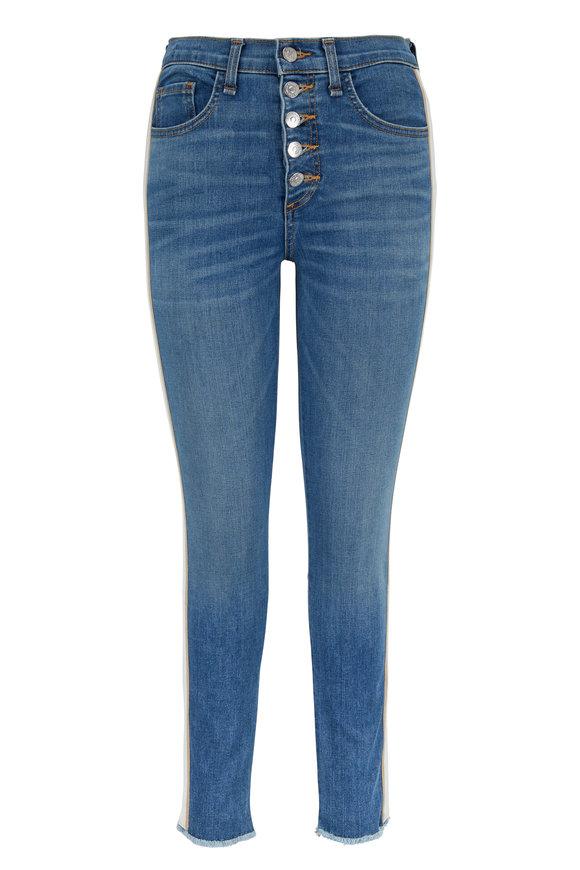 Veronica Beard Debbie Grotto Tuxedo Stripe Skinny Jean