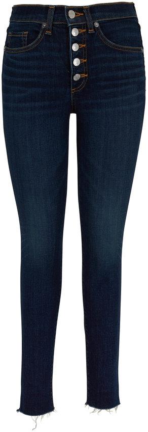 Veronica Beard Debbie Dark Vintage High-Rise Jean