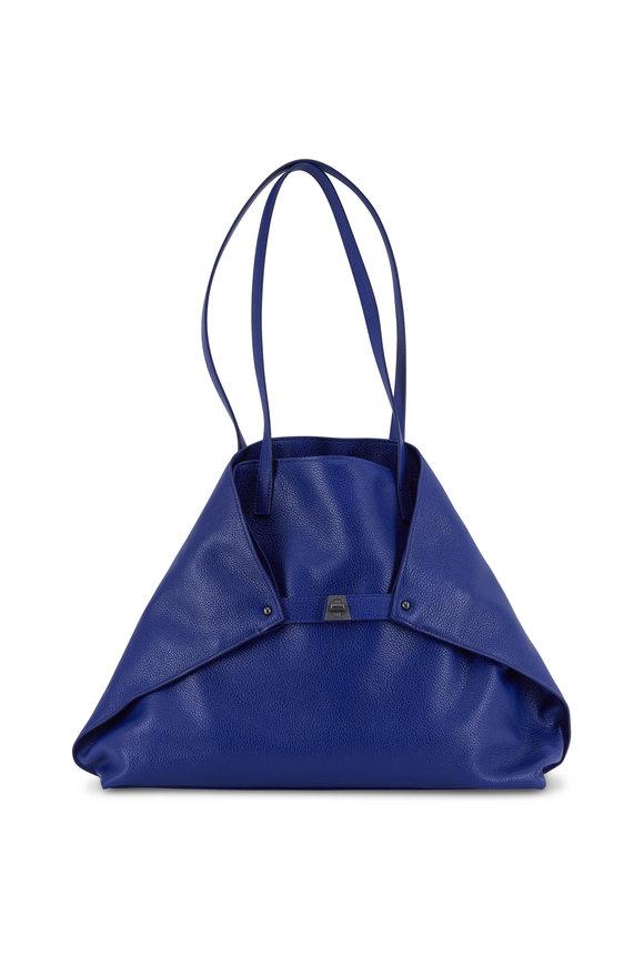 Akris AI Cobalt Blue Soft Leather Medium Tote
