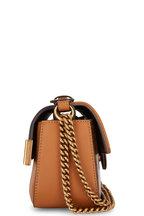 Fendi - Tan Coated Canvas & Leather Double F Small Bag