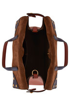 Fendi - Flip Rust Leather & Suede Small Bag