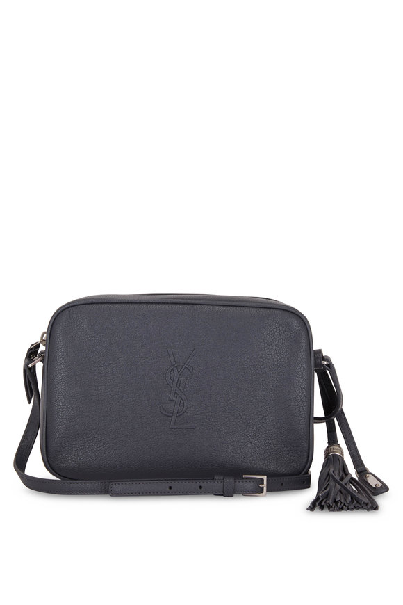 Saint Laurent Lou Monogram Dark Smog Medium Camera Bag