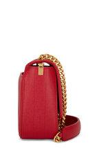 Saint Laurent - Vicky Vintage Red Matelassé Medium Crossbody
