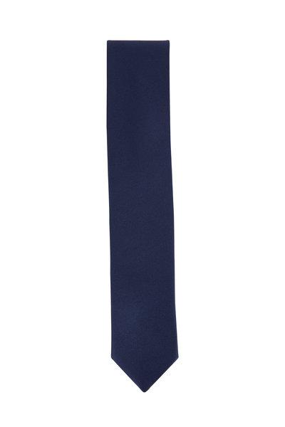 Dolce Punta - Navy Blue Grosgrain Formal Necktie