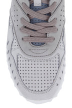 Tod's - Fondo Gray & Light Blue Suede Sneaker