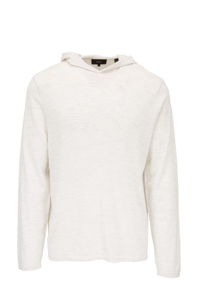 Vince - Heather White Wool & Cashmere Hoodie