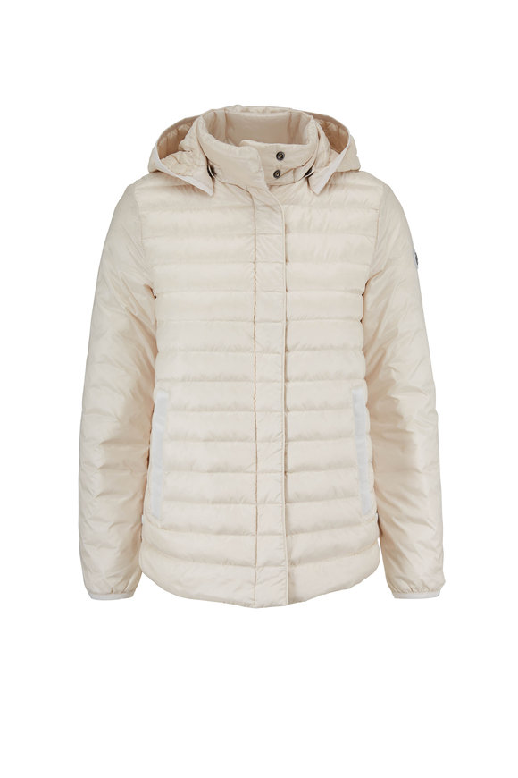 Bogner Gini-D Ivory Short Puffy Hooded Jacket