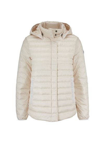 Bogner - Gini-D Ivory Short Puffy Hooded Jacket