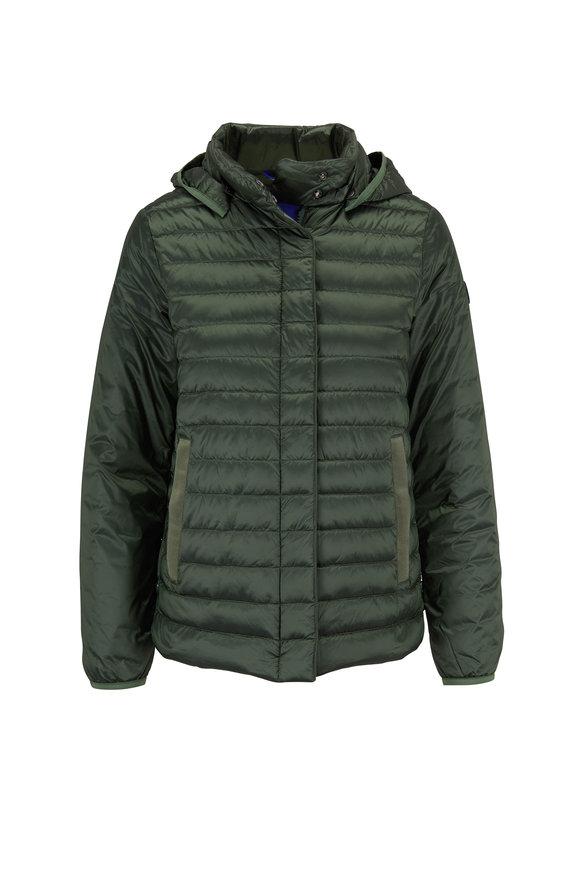 Bogner Gini-D Green Short Puffy Hooded Jacket