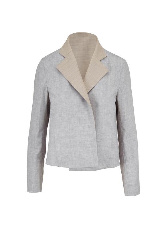 Akris Clarice Silver & Birch Reversible Jacket