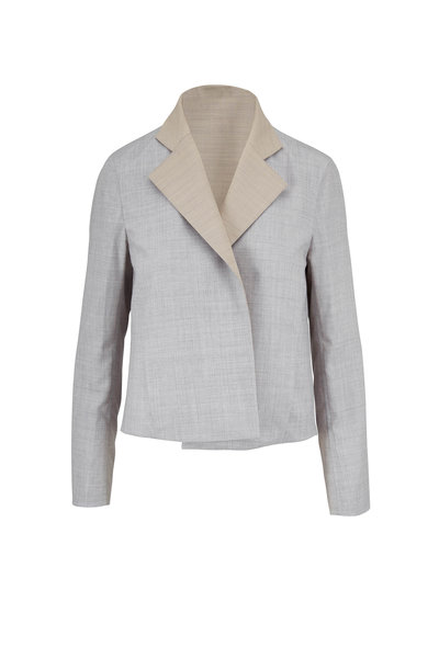 Akris - Clarice Silver & Birch Reversible Jacket