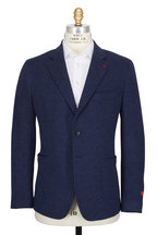 Isaia - Blue Double Knit Jersey Sportcoat