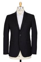Lanvin - Attitude Solid Black Wool Suit