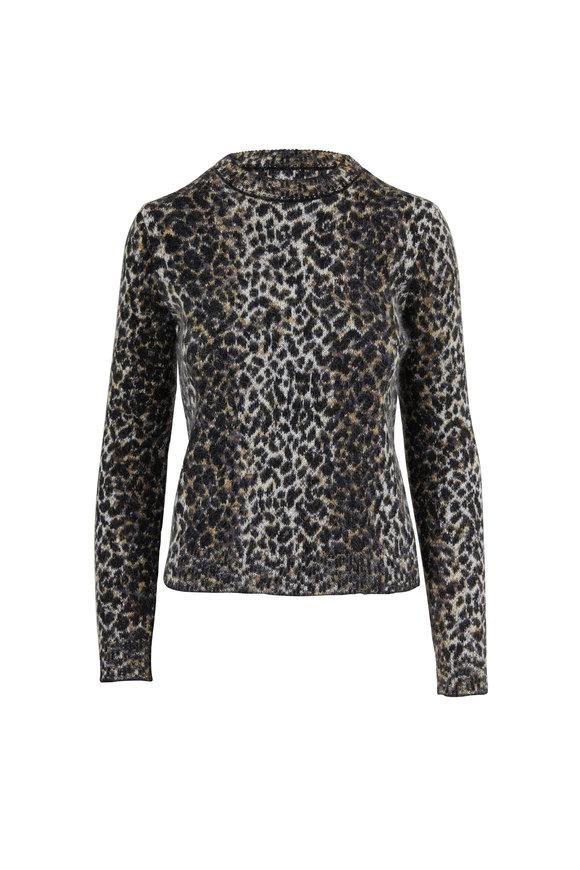 Saint Laurent Leopard Jacquard Wool & Mohair Sweater