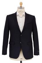 Ermenegildo Zegna - Multiseason Navy Blue Micro Check Wool Suit