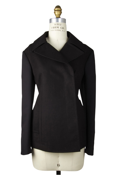 The Row - Jorna Black Mixed Media Jacket