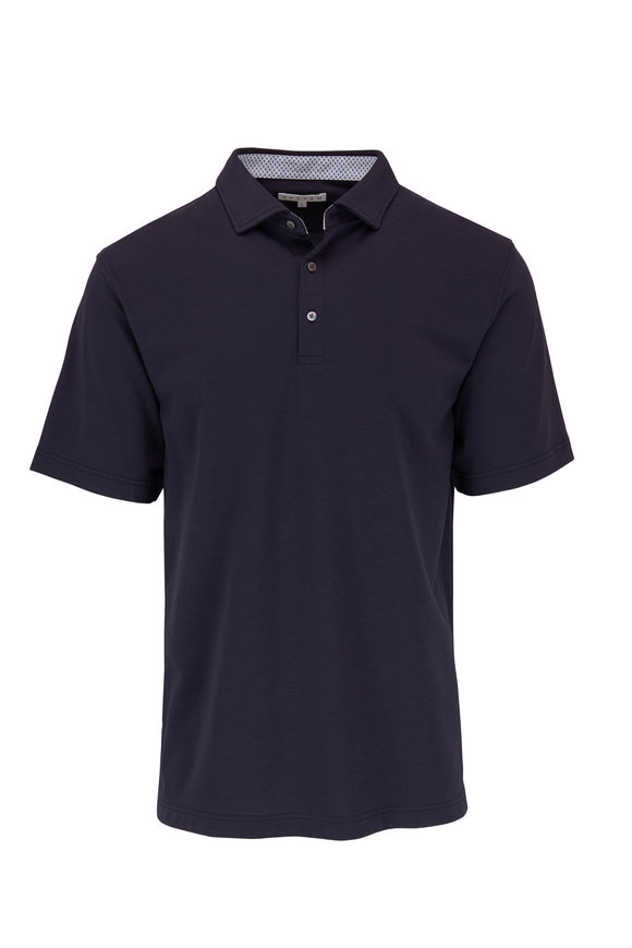 Vastrm Navy Blue Tech Jersey Polo