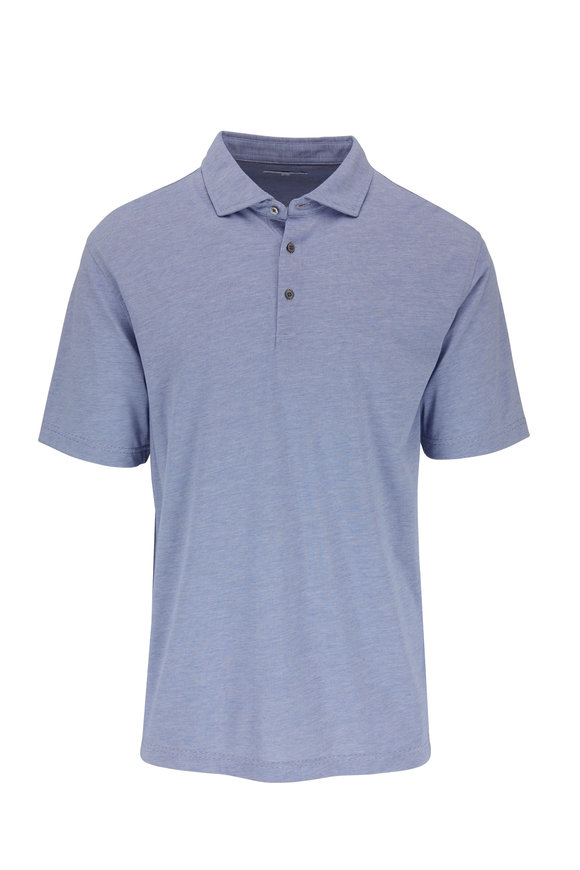 Vastrm Blue Striped Jersey Polo