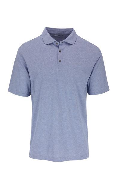 Vastrm - Blue Striped Jersey Polo