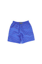 Vilebrequin - Boys Blue Micro Ronde Des Tortues Swim Trunks