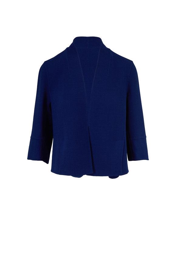 Akris Cali Enzian Double-Faced Wool Open Front Jacket